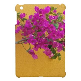 Coque iPad Mini Soleil jaune de voûte de fleur de rose de mur