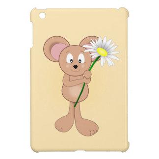 Coque iPad Mini Souris avec la fleur