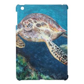 Coque iPad Mini Tortue et un récif coralien
