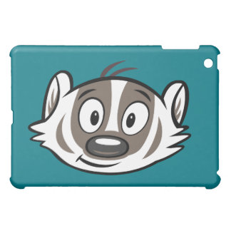 Coque iPad Mini Visage de blaireau de boomer du raton laveur | de