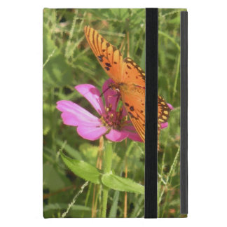 Coque iPad Mini Zinnia et papillon