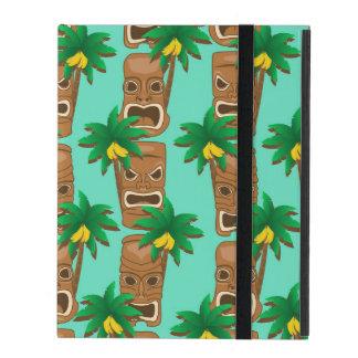 Coque iPad Motif hawaïen de répétition de Tiki