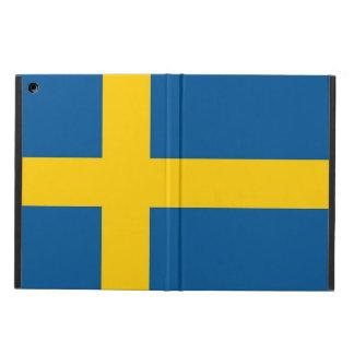 Coque ipad patriotique avec le drapeau de la Suède