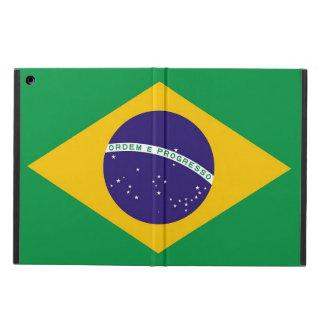 Coque ipad patriotique avec le drapeau du Brésil