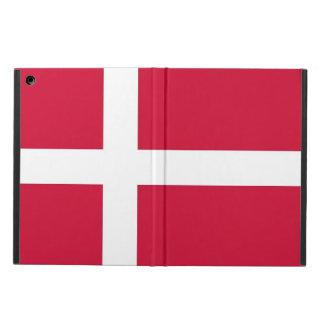 Coque ipad patriotique avec le drapeau du Danemark