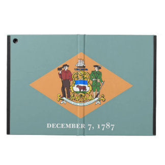 Coque ipad patriotique avec le drapeau du Delaware