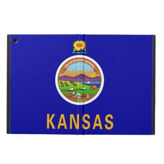 Coque ipad patriotique avec le drapeau du Kansas