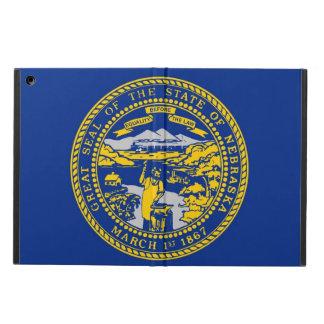 Coque ipad patriotique avec le drapeau du Nébraska