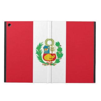 Coque ipad patriotique avec le drapeau du Pérou