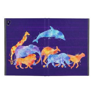 "Coque iPad Pro 9.7"" Aquarelle colorée de troupeau d'animal sauvage"