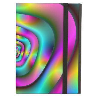 Coque ipad psychédélique de tunnel avec Kickstand