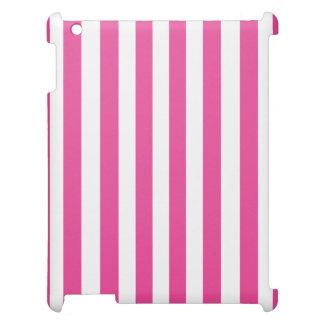 Coque iPad Rayures verticales roses