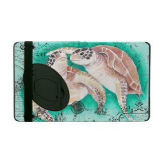 Coque iPad Tortues de mer turquoises