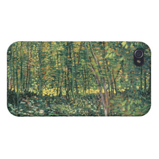 Coque iPhone 4/4S Arbres de Vincent van Gogh | et broussaille, 1887