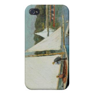 Coque iPhone 4/4S Claude Monet | naviguant à Argenteuil, c.1874