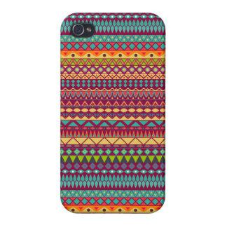 Coque iPhone 4/4S Conception abstraite rayée tribale de motif