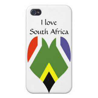 Coque iPhone 4/4S Drapeau de l'Afrique du Sud Bokke