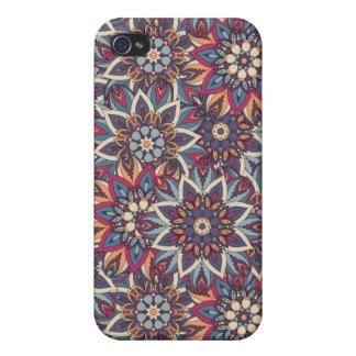 Coque iPhone 4/4S Motif floral ethnique abstrait coloré de mandala