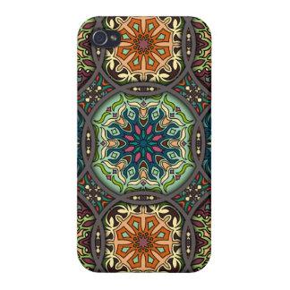 Coque iPhone 4/4S Patchwork vintage avec les éléments floraux de