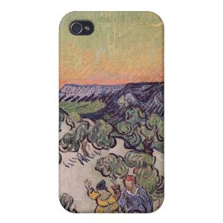 Coque iPhone 4/4S Paysage éclairé par la lune de Vincent van Gogh |,