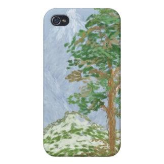 Coque iPhone 4/4S Peinture de paysage de montagne