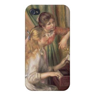 Coque iPhone 4/4S Pierre jeunes filles de Renoir un | au piano
