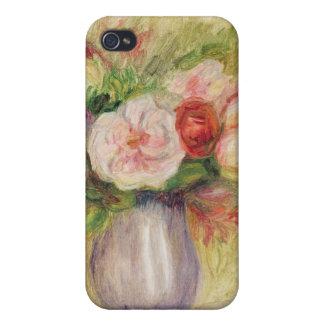 Coque iPhone 4/4S Pierre un vase à Renoir   de fleurs