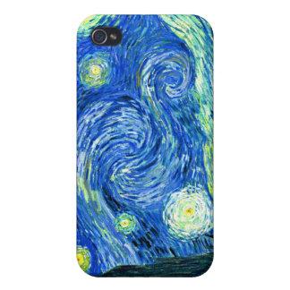 Coque iPhone 4/4S PixDezines Van Gogh Night/St étoilé. Remy
