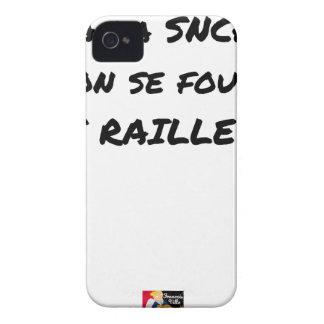 Coque iPhone 4 A LA SNCF ON SE FOUT DES RAILLEURS - Jeux de mots