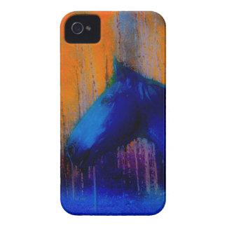 Coque iPhone 4 Art moderne courant d'étalon et de cheval