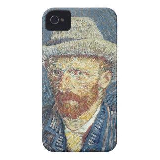 Coque iPhone 4 Autoportrait de Vincent van Gogh | avec le chapeau