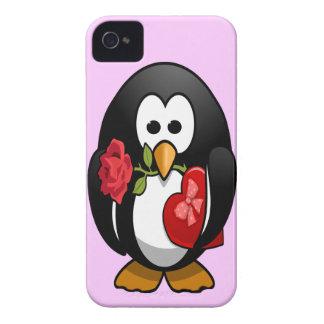 Coque iPhone 4 Bande dessinée drôle de pingouin mignon de