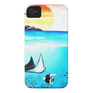 Coque iPhone 4 Belle peinture de scène sous-marine