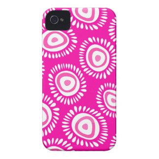 Coque iPhone 4 Caisse audacieuse de Blackberry de belles fleurs
