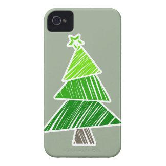 Coque iPhone 4 Caisse audacieuse peu précise verte de Blackberry