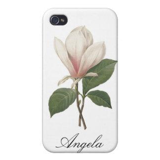 Coque iPhone 4 Caisse de point de l'iPhone 4/4S de magnolia de