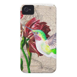 Coque iPhone 4 Carte de tulipe de colibri