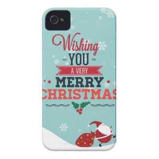 Coque iPhone 4 Cas de téléphone de Joyeux Noël