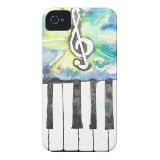 Coque iPhone 4 Case-Mate Aquarelle de piano