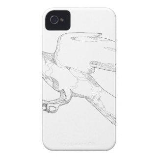 Coque iPhone 4 Case-Mate Art Swooping de griffonnage d'autour du nord