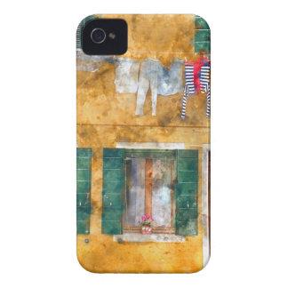 Coque iPhone 4 Case-Mate Bâtiments colorés à Venise Italie
