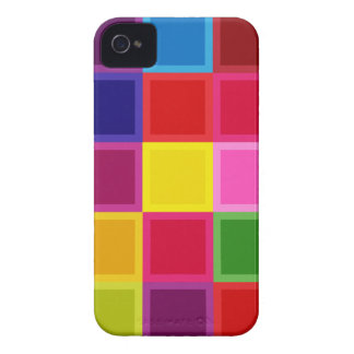 Coque iPhone 4 Case-Mate Carrés multi et rayures colorés Girly