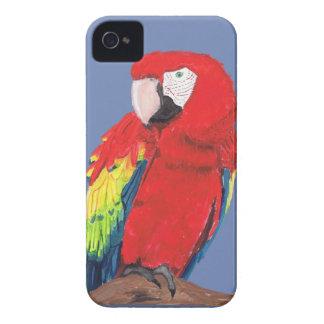 Coque iPhone 4 Case-Mate Cas de téléphone d'ara d'écarlate