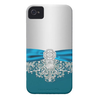 Coque iPhone 4 Case-Mate Cas Girly de parties scintillantes de jewell