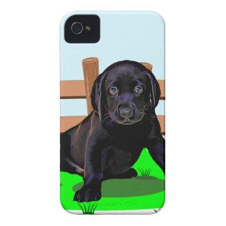 Coque iPhone 4 Case-Mate Chiot mignon de chien de Labrador