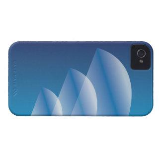 Coque iPhone 4 Case-Mate Ciel bleu translucide de Tri Voile