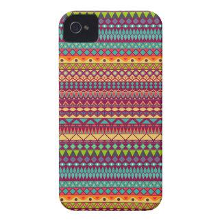 Coque iPhone 4 Case-Mate Conception abstraite rayée tribale de motif