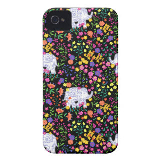 Coque iPhone 4 Case-Mate Conception inspirée par Indien floral coloré