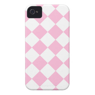 Coque iPhone 4 Case-Mate Diag Checkered - blanc et sucrerie de coton