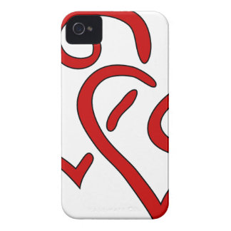 Coque iPhone 4 Case-Mate Double coeur rouge